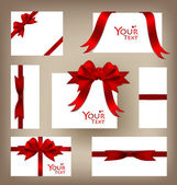 Collection of gift cards and invitations. Vector illustration. — ストックベクタ