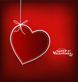 Valentine's day card with Heart Paper. Vector illustration. — Vettoriale Stock