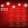 Simple 2013 year calendar, vector illustration. — Stockvektor