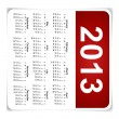 Stock Vector: Simple 2013 year calendar, vector illustration.