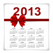 Simple 2013 year calendar, vector illustration. — Stock Vector #18179313