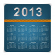 Simple 2013 year calendar, vector illustration. — Stock Vector