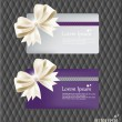 Collection of gift cards and invitations with ribbons. Vector il — Stock Vector #18179671