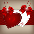 Valentine's day card with Heart Paper. Vector illustration. — Vektorgrafik