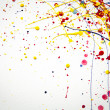Abstract colorful  Splash watercolor background - Stock Photo