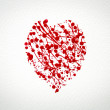 Stock Photo: Heart with splash of red watercolor