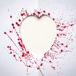 Royalty-Free Stock Photo: Heart with splash of red watercolor