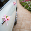 Stock Photo: Wedding car with beautiful decorations