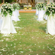 Wedding ceremony in beautiful garden — Stock Photo #18736505