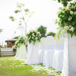 Wedding ceremony in beautiful garden — Stock Photo #18736551