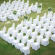 Wedding ceremony in a beautiful garden - Stock Photo
