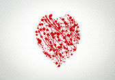 Heart with splash of red watercolor — Stockfoto