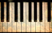Vintage piano keys — Stock Photo