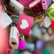 Many heart padlocks love symbol — Stock Photo