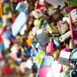 Stock Photo: Many heart padlocks love symbol