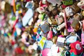 Many heart padlocks love symbol — Stock Photo