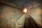Vintage railway tunnel — Stock Photo