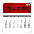 Stock Vector: Simple 2013 calendar, November. All elements are layered separat