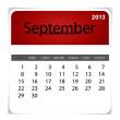 Stock Vector: Simple 2013 calendar, September. All elements are layered separa