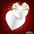 Valentine's day card with Heart Paper. Vector illustration. — Stock Vector