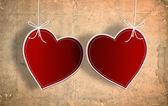 Cartão de dia dos namorados com coração de papel — Fotografia Stock