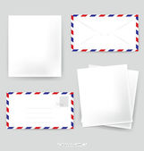 Paper designs: Envelope and various papers, ready for your messa — Stock Vector