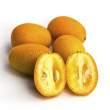 Kumquat orange isolated on a white background — Foto Stock