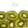 Kivi fruit isolated on white background with copy space. — Stock fotografie