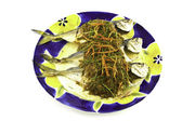 Delicious fresh Atlantic mackerel fish — Stock Photo