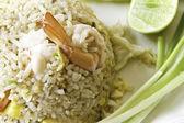 Seafood fried rice — Stock Photo