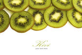 Kivi fruit isolated on white background with copy space. — Stock Photo