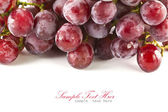 Close up of red grapes on white background with copy space. — Stock Photo