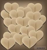 纸的心形状的符号情人节与副本的空间 — 图库矢量图片