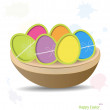 Easter eggs, happy easter card. Vector illustration. — Stock Vector #21724981