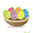 Easter eggs, happy easter card. Vector illustration. — Stock Vector #21725007