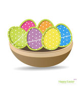 Easter eggs, happy easter card. Vector illustration. — Stock Vector