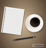 Paper, ready for your text. Vector illustration. — Stock Vector