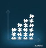 Grafico di affari. illustrazione vettoriale. — Vettoriale Stock