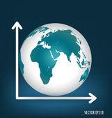 Gráfico de negocios. ilustración vectorial. — Vector de stock