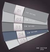 Modern infographics options banner. Vector illustration. — Stock Vector