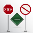 Stock Vector: Traffic sign. Vector illustration.