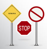 Traffic sign. Vector illustration. — Stock Vector