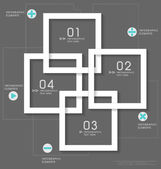 Modern design layout modern design template, vector illustrati — Stock Vector