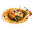 Fresh grilled scallops — Stock Photo