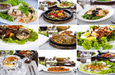 Collection of asian food — Stock Photo