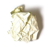 Waste paper on white background — Stock Photo