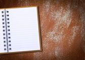 Grunge vintage old blank paper on wall. — Stock Photo