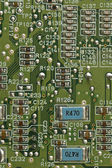Close up detail image of a printed circuit board — Stock Photo