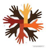 Ręce. streszczenie tło dla projektu, ilustracji wektorowych. — Wektor stockowy