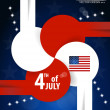 Stock Vector: 4th of July independence day. Vector background design.